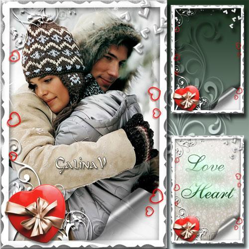 Романтическая рамка ко Дню Св. Валентина - Влюблённое сердце