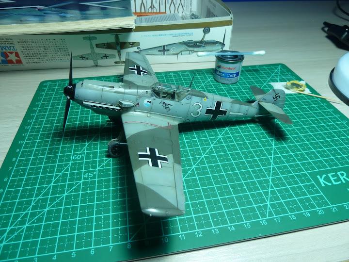 Bf-109 E-3 Tamiya 1/48 - Reforma pintura P1020568