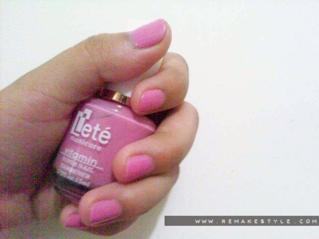 NOTD: Pink Vibe – Korean Lete Nail Polish Review