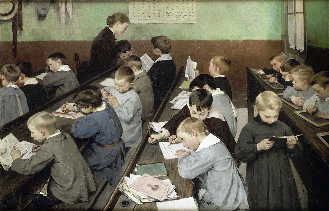 Henry Jules Jean Geoffroy - The Children's Class