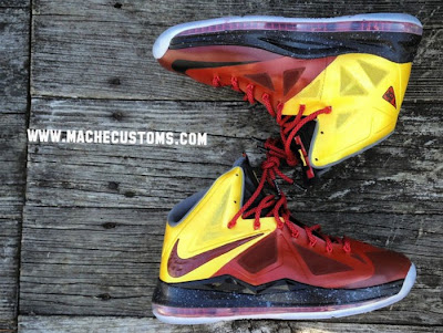 nike lebron 10 cs mache chamber of fear 1 01 Galaxy, Chamber of Fear & Mita LeBron X Customs by Mache