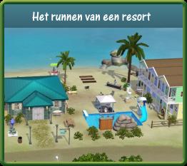 PT gids runnen van een resort