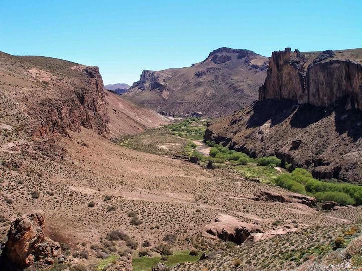 Ascenso del Cañadón del Río Pinturas