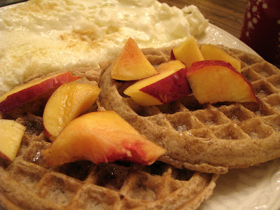 waffles and nectarines