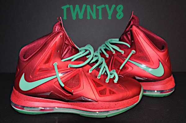 Detailed Look at the Nike LeBron X Christmas  Ruby Edition