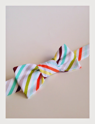 Striped bow tie for little bows, bow ties