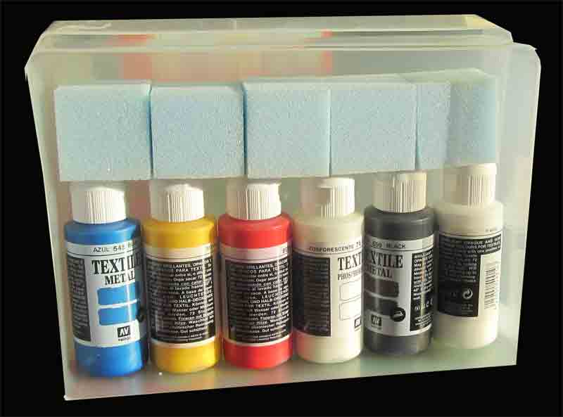 Fabric Paints for textile art and textile techniques