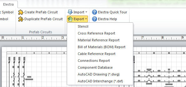 Accessing DWG and DXF exports.