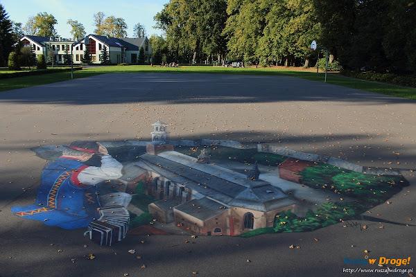 Rysunek 3D w Parku Solidarności w Kartuzach
