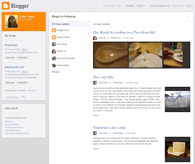 The New Blogger Dashboard