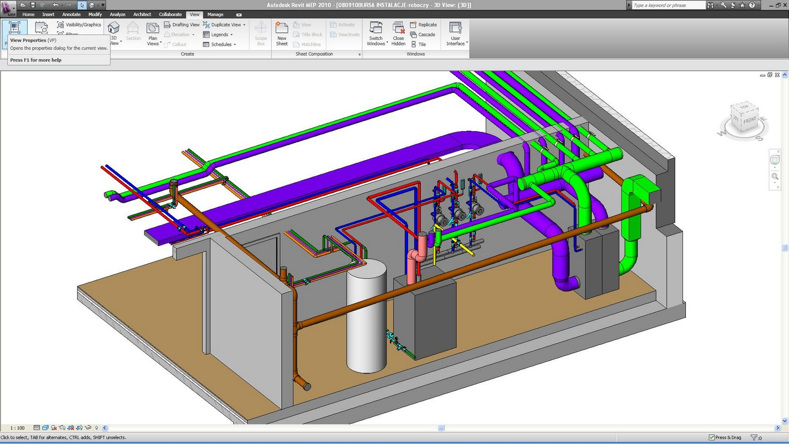 Mechanical Plant Room Revit Families