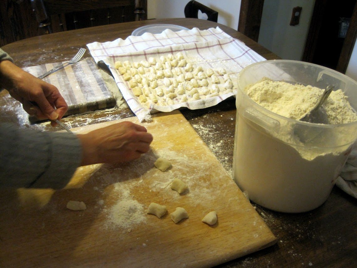 Making the gnocchi