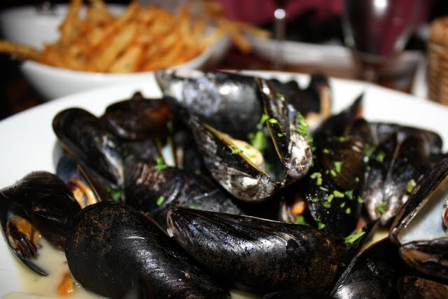 Mussels at Nice Matin restaurant in New York City