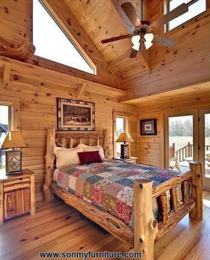Phòng ngủ mộc mạc cho mùa đông ấm áp-8