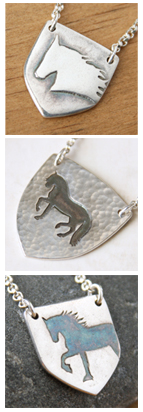 jewelry with exclusive original nature designs in silver by Jennifer Kistler