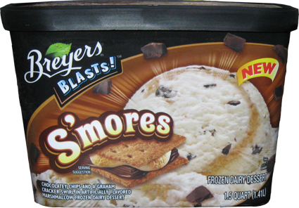 Breyers BLASTS Smores Frozen Dairy Dessert Review