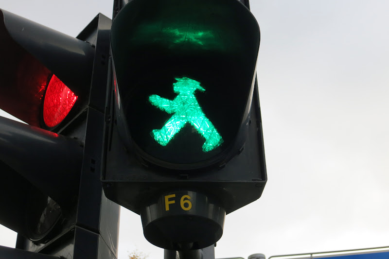 Green man = go!