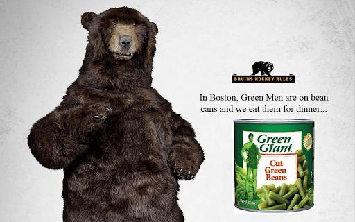Green men beans