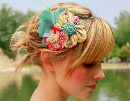 Inspiração flores - tiara cabelo