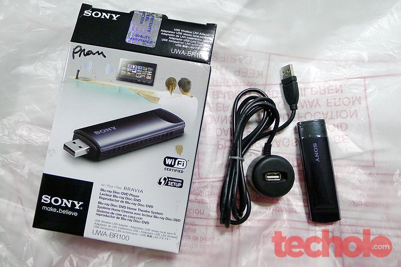 how to connect sony bravia internet tv uwa-br100