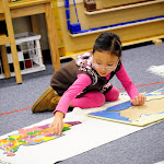 Hands-on materials, like this Montessori Puzzle Map of the United States, help our preschool children learn much geography. By the end of the primary cycle, she'll know all of the US states, and will be able to find them on the map--a level of skill that eludes many high school students.