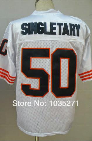 #50 Mike Singletary Jersey Throwback American Football