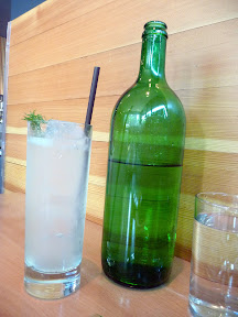 housemade soda offering of cucumber dill verjus, Gruner, alpine food, Portland restaurant