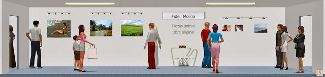 Sala de exposición virtual de pinturas de Fidel Molina
