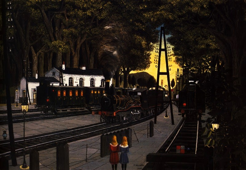 Paul Delvaux - Station Forestiere, 1960