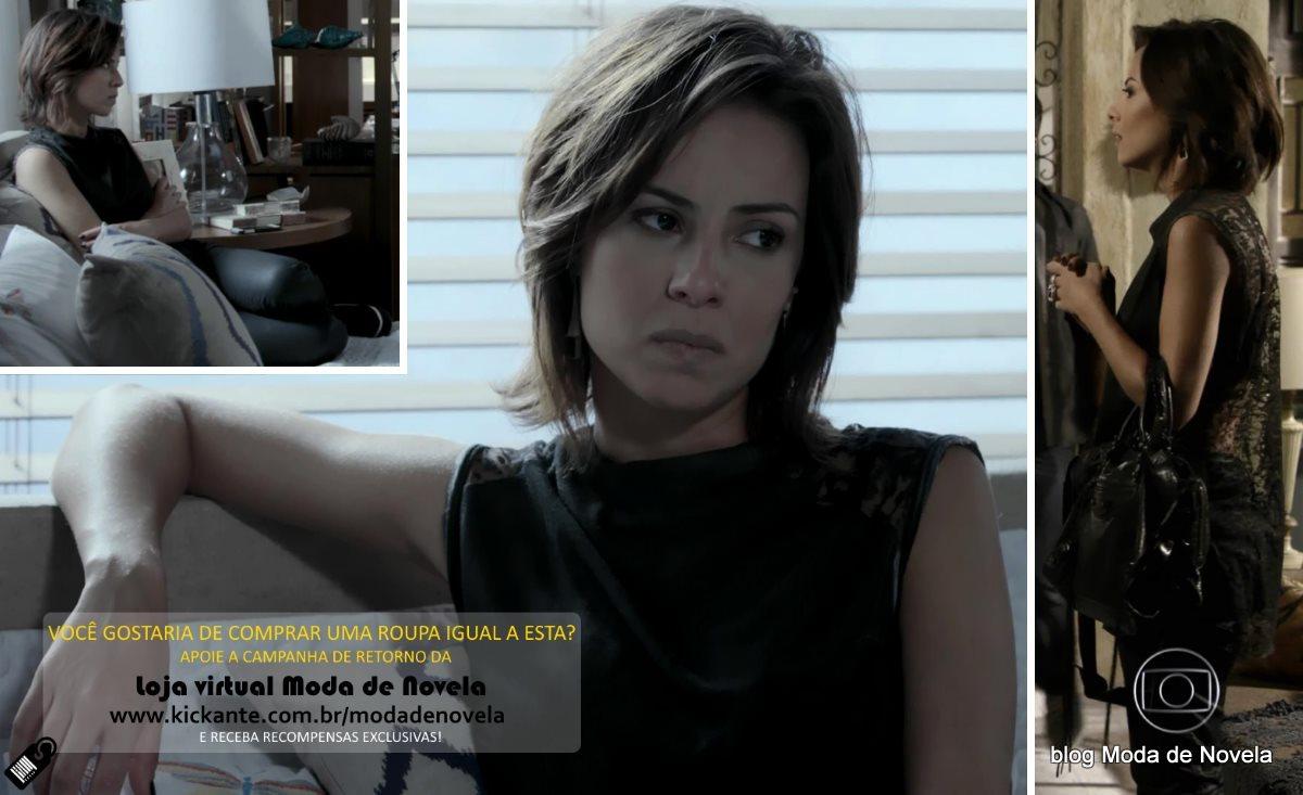 moda da novela Império, look da Maria Clara dia 19 de fevereiro de 2015