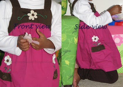Dress makeover -Make facbric flowers and attach them to pockets