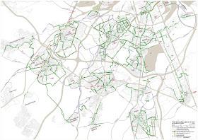 Plano de vías tranquilas del sur metropolitano