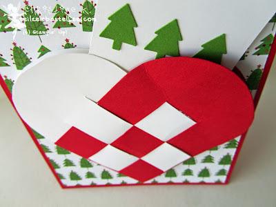 stampin up, scandinavian woven heart, skandinavische flechtkörbe, weihnachten, christmas