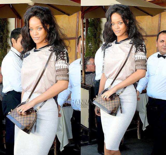 Rihanna in Givenchy, Gianvito Rossi