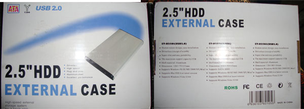 "2.5"" External hard disk case box"