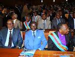 Des sénateurs de la RDC le 15/12/2012 au palais du peuple à Kinshasa, lors du discours du prédisent Joseph Kabila sur l'état de la nation devant les deux chambres du Parlement réunies en congrès. Radio Okapi/ Ph. John Bompengo
