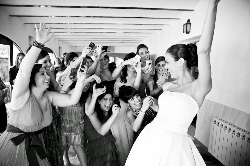 novia, mañana, boda, feliz