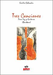 Tres canciones, versión para barítono y guitarra