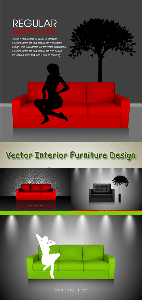 Stock: Vector Interior Furniture Design