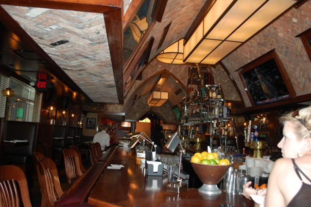 You can dine at the bar at the Royal Pig Pub or just have a cocktail