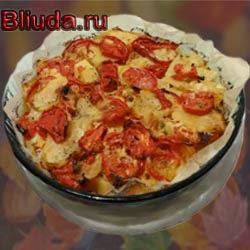 Запеканка из трески и картофеля