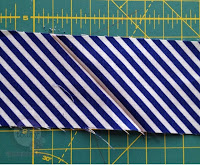 Strips evenly sewn together