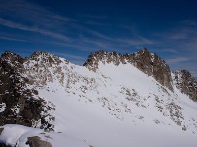 Pic Abadías, cresta i pic de la Maladeta