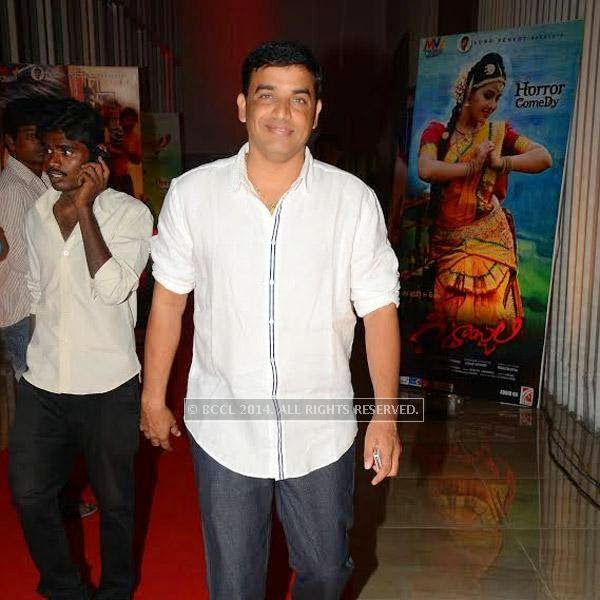Dil Raju during a filmi event, held in Hyderabad.