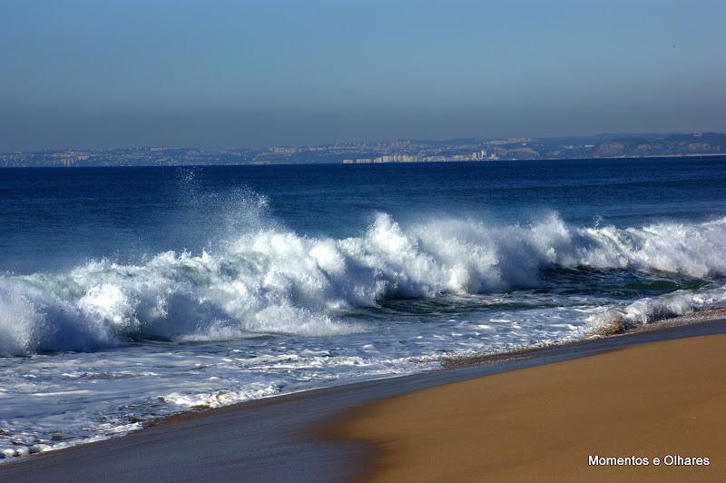Praia do Meco, ondas