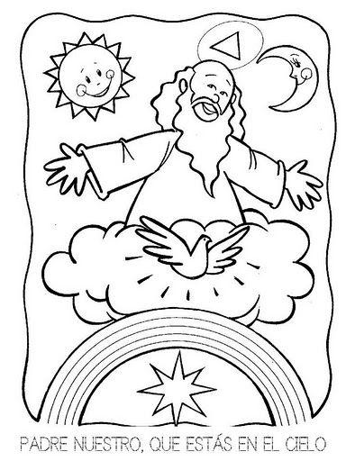 Dibujos Católicos : Imagenes del Padre Nuestro para colorear