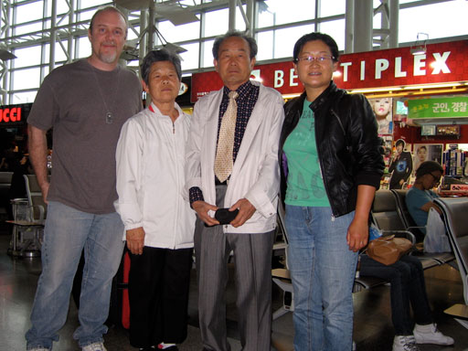 Robert D. Skeels with Yoon Jung Lee's family in Daegu