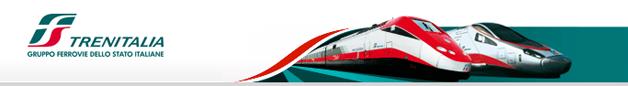 Kopf der Webseite der italienischen Bahn - Trenitalia