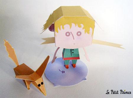 Le Petit Prince Paper Toy