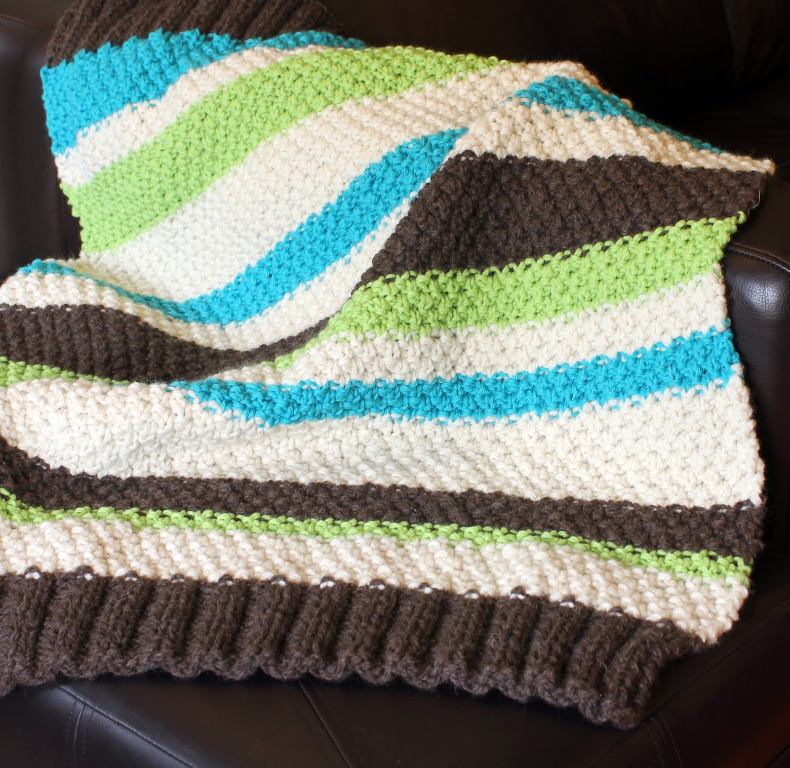 Knitting Pattern For An Easy Baby Blanket : skadoot: original designs: Learn to Knit: Free & Easy Baby Blanket Patter...